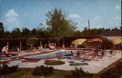 Pool Scene, Bellemont Motor Hotel and Restaurant