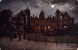 Aston Hall by Night Postcard
