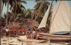 Native Children on a Sailboat