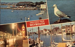 Greetings from Weymouth, with Harbor Views