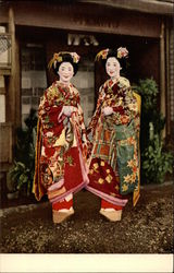 Two Japenese Women in Traditional Dress