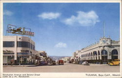 Revolution Avenue and Second Street Postcard