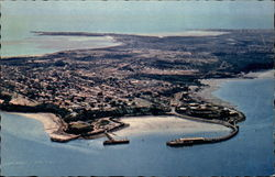 Aerial View of Harbour and City