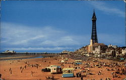 Beach and Tower at Blackpool