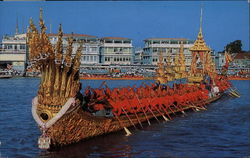 The Nakaraj Barge in a Procession Postcard