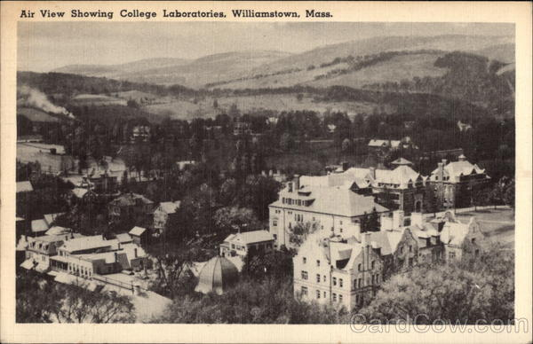 Air View showing College Laboratories Williamstown Massachusetts