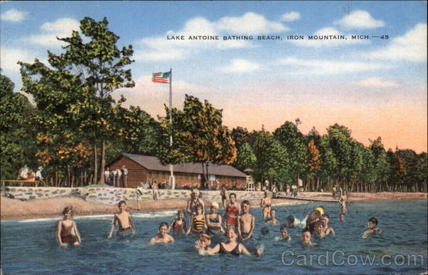 Lake Antoine Bathing Beach Iron Mountain Michigan