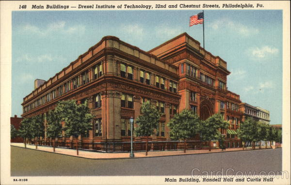 Main Buildings - Drexel Institute of Technology, 32nd and Chestnut Streets Philadelphia Pennsylvania