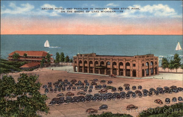 Arcade Hotel and Pavilion in Indiana Dunes State Park Chesterton