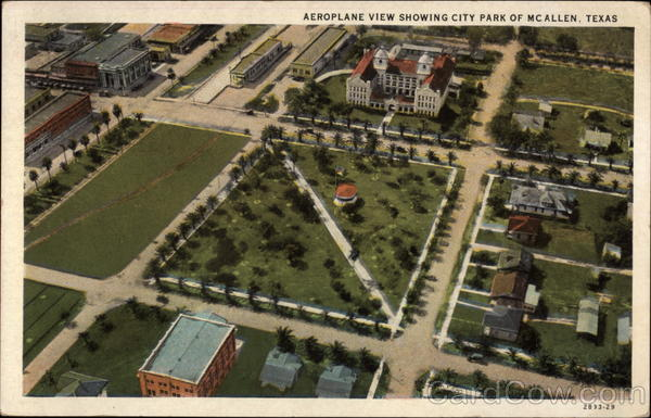 Aeroplane View Showing City Park McAllen Texas