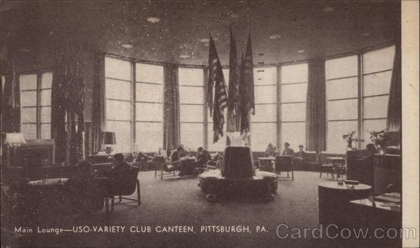 Main Lounge of USO-Variety Club Canteen Pittsburgh Pennsylvania
