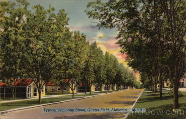 Typical Company Street - Gunter Field Montgomery Alabama