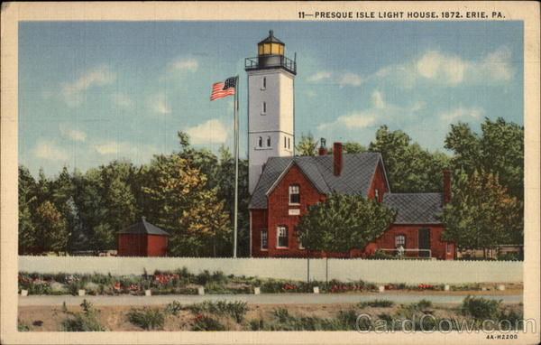 Presque Isle Light House, 1872 Erie Pennsylvania