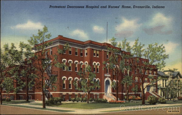 Protestant Deaconess Hospital and Nurses' Home in Evansville Indiana