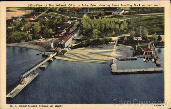 Stone Loading Dock And Us Coast Guard Station Marblehead Oh