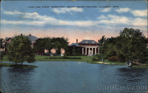Lake and Girls' Dormitory, Mount Union College Alliance Ohio