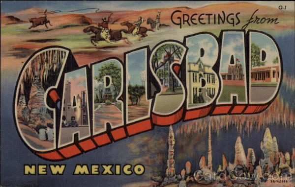 Greetings from Clarsbad Calrsbad New Mexico Large Letter