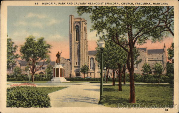 Memorial Park and Calvary Methodist Episcopal Church Frederick Maryland
