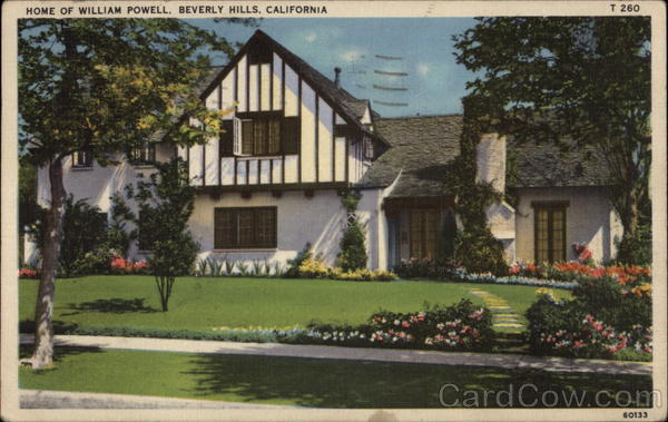 Home of William Powell Beverly Hills California