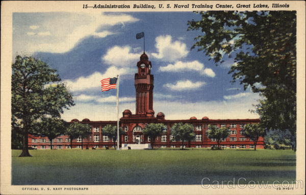 Adminstration Building, U.S. Naval Training Center Great Lakes Illinois