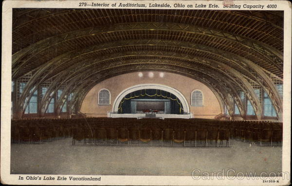 Interior of Auditorium Lakeside Ohio