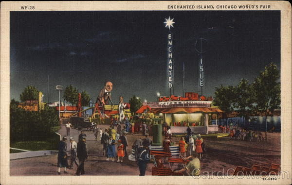 Enchanged Island, Chicago World's Fair Illinois 1933 Chicago World Fair