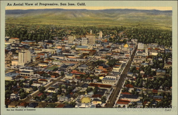 Aerial View of City San Jose California