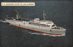 SS Milwaukee Clipper on Lake Michigan Postcard