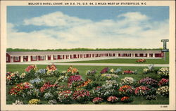 Bolick's Hotel Court Postcard