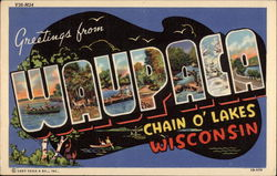 Greetings from Waupaca, Chain o'Lakes