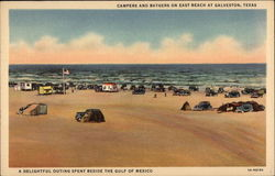 Campers and Bathers on East Beach