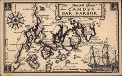 Camden Bar Harbor - The Maine Coast Postcard
