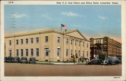 New U. S. Post Office and Hilton Hotel Postcard