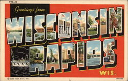 Greetings from Wisconsin Rapids Postcard