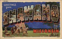 Greetings from Shawano Postcard