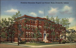 Protestant Deaconess Hospital and Nurses' Home in Evansville Postcard