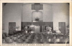 Main Auditorium, Marion Baptist Church