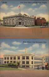U.S. Post Office, Masonic Temple and High School