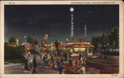 Enchanged Island, Chicago World's Fair Postcard