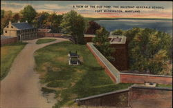 A view of the Old Fort, the Adjutant Generals School