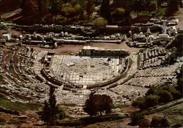 Theatre of Dionysus Athens Greece Greece, Turkey, Balkan States