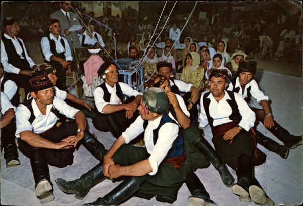 Greek Dancers Rest after Dancing Crete Greece Greece, Turkey, Balkan States