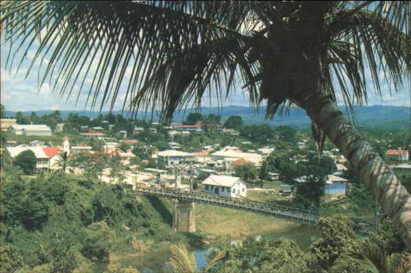 View over Town San Ignacio Belize Central America
