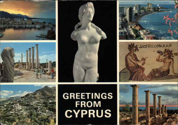 Greetings from Cyprus Greece, Turkey, Balkan States