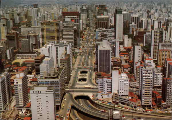 Aerial View of City Sao Paulo Brazil