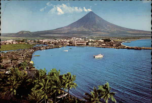 Legaspi City at the Foot of the Beautiful Mt. Mayon Philippines