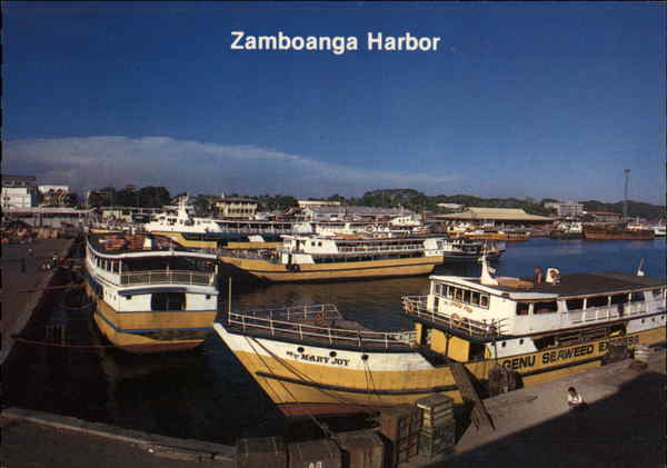 View of the Harbour Zamboanga Philippines Southeast Asia