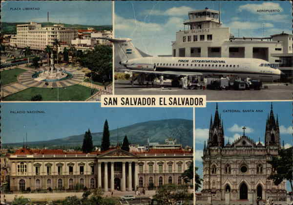 Various Views of City San Salvador El Salvador Central America