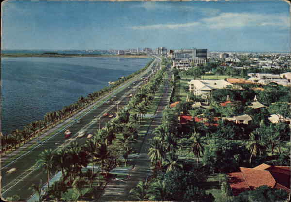 View Along Roxas Boulevard Manila Philippines Southeast Asia