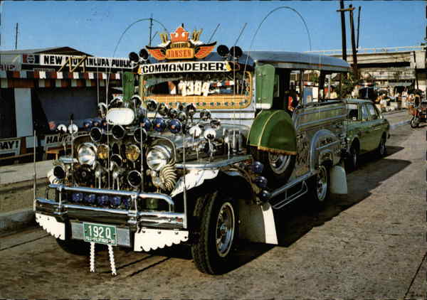 A Typical Philippine Jeepney Manila Philippines Southeast Asia